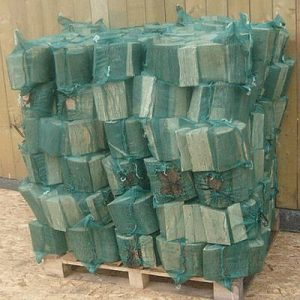 Net bags of logs