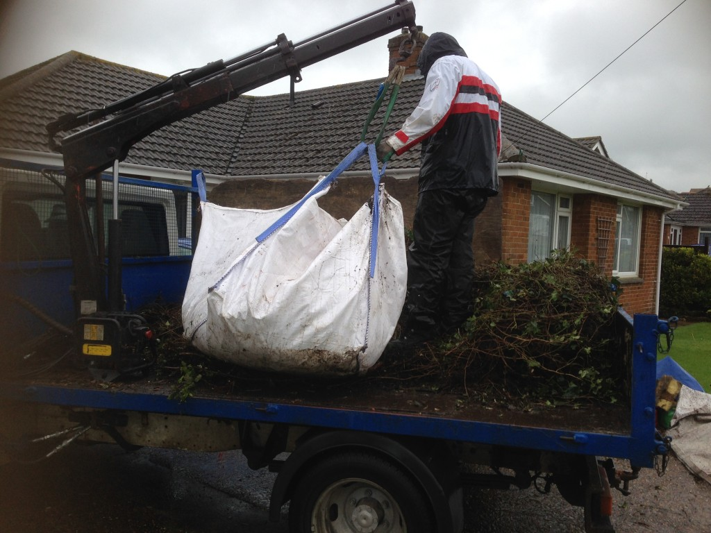 Waste Bags being Loaded