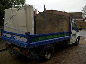 Rubbish loaded on tipper truck